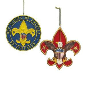 Boy Scout Emblem Christmas Ornament (Set of 2)