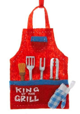 """King of the Grill"" Apron Christmas Ornament"