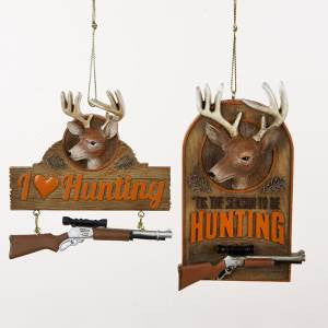 Hunting Rifle Christmas Ornament (Set of 2)