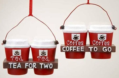 Drinks for 2 Christmas Ornament (Set of 2)