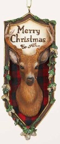 Hunting Plaque Christmas Ornament