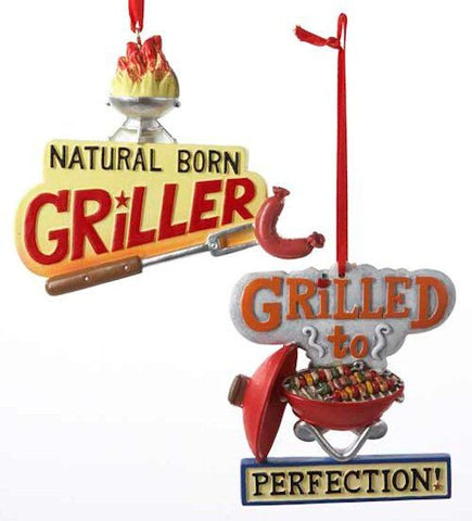 Grilling Christmas Ornaments (Set of 2)
