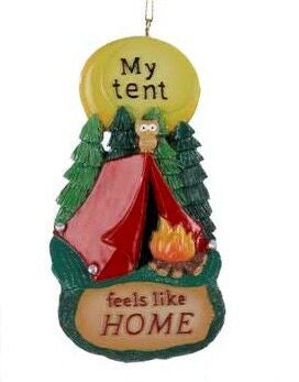 """My Tent Feels Like Home"" Christmas Ornament"