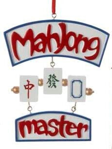 Mahjong Master Christmas Ornament