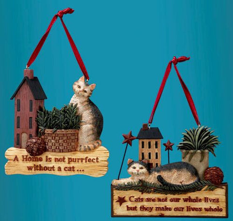 Cat Signs Christmas Ornaments