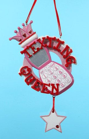 Text Queen Christmas Ornament