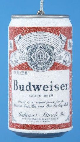 Budweiser Beer Can Christmas Ornament