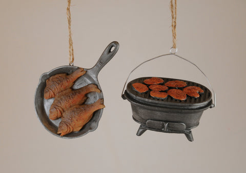 Outdoor Cooking Christmas Ornaments (Set of 2)