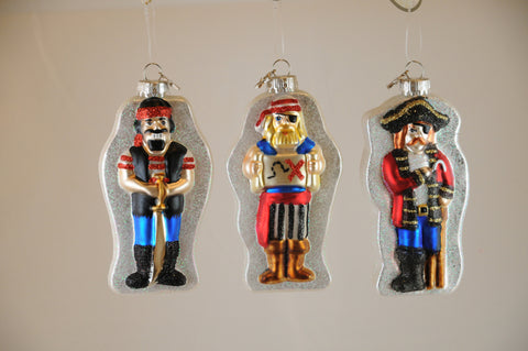 Pirate  Christmas Ornaments (Set of 3)