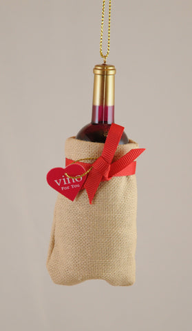 Wine Bag Christmas Ornament