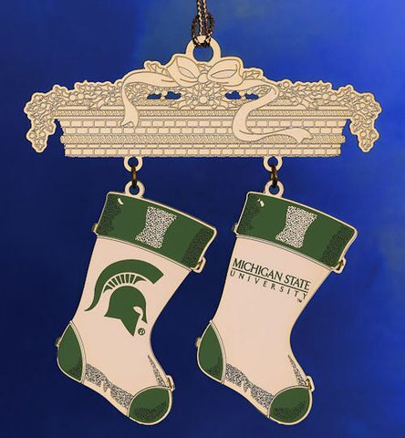 Michigan State Stockings Christmas Ornament