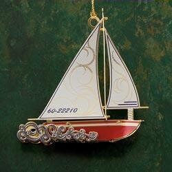Sloop Christmas Ornament