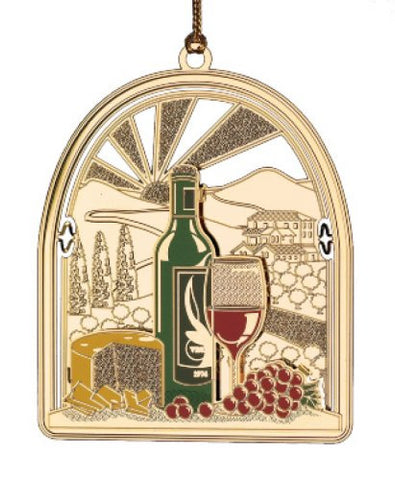 Vineyard Christmas Ornament