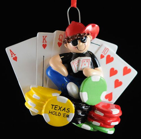 Texas Hold 'Em Christmas Ornament