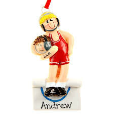 Male Wrestler Christmas Ornament