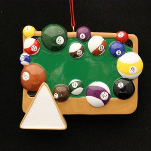 Billards Table Christmas Ornament