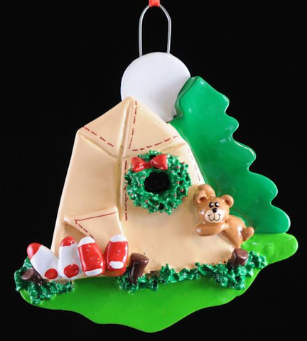 Campsite Christmas Ornament