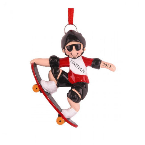 Skateboarder Christmas Ornament