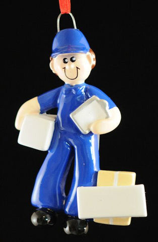Delivery Man Christmas Ornament