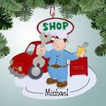 Mechanic Shop Christmas Ornament