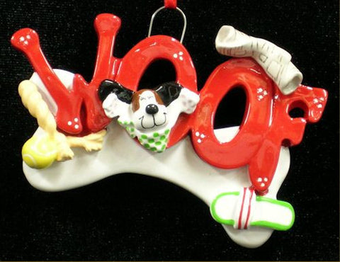 """Woof"" Christmas Ornament"