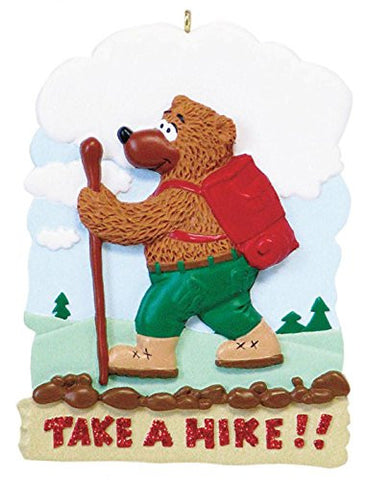 "Bear ""Take a Hike"" Christmas Ornament"