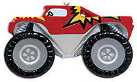 Monster Truck Christmas Ornament