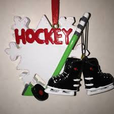 Hockey Christmas Ornament