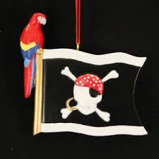 Jolly Roger Flag Christmas Ornament