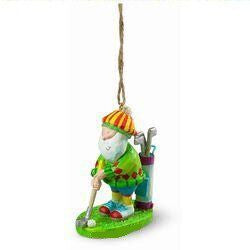 Golfing Santa Christmas Ornament