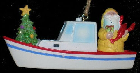 Lobster Boat Christmas Ornament