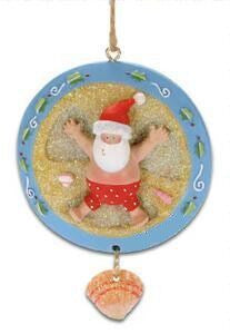 Santa Sand Angel Christmas Ornament