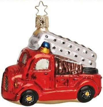 To The Rescue Firetruck Christmas Ornament