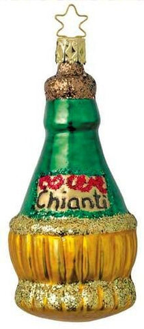 Chianti Wine Bottle Christmas Ornament