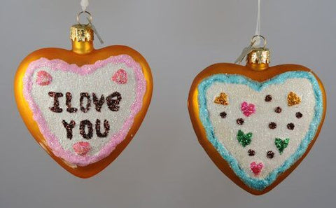 """Cookie Love"" Christmas Ornament (Set of 2)"