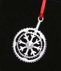 Snow Flake Bicycle Crank Christmas Ornament