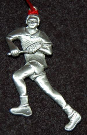 Male Tennis Player Christmas Ornament