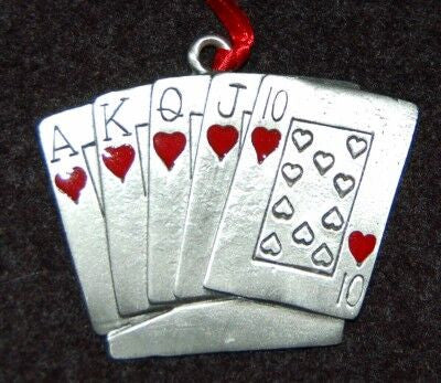 Royal Flush Christmas Ornament