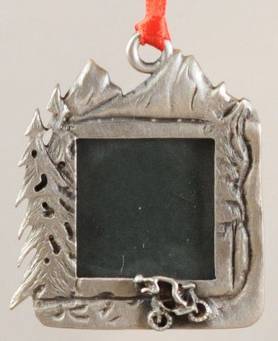 Mountain Bike Picture Frame Christmas Ornament – Fun Christmas Ornaments