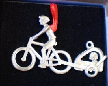 Bicycle with Trailer Christmas Ornament