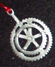 Bicycle Crank Christmas Ornament
