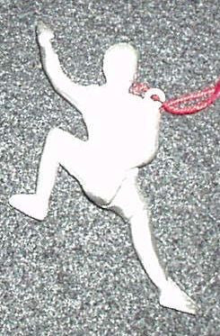 Rock Climber Christmas Ornament