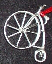 High Wheeler Bicycle Christmas Ornament
