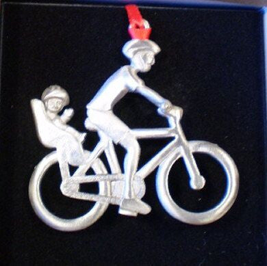 Back Seat Baby Bicycle Christmas Ornament