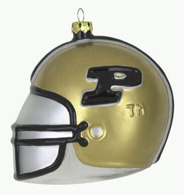 Purdue Glass Football Helmet Christmas Ornament