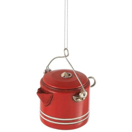 Camp Coffee Pot Christmas Ornament