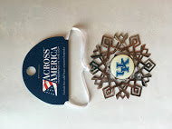 College Snowflake Christmas Ornaments