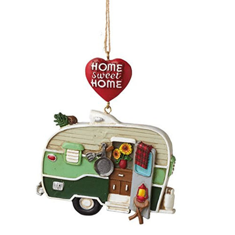 Home Sweet Home Camper Trailer Christmas Ornament