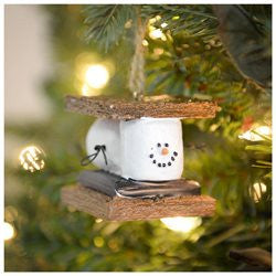 Smores Marshmallow Chocolate Christmas Ornament