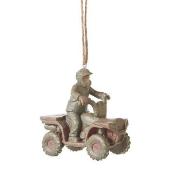 Muddy 4-Wheeler ATV Christmas Ornament